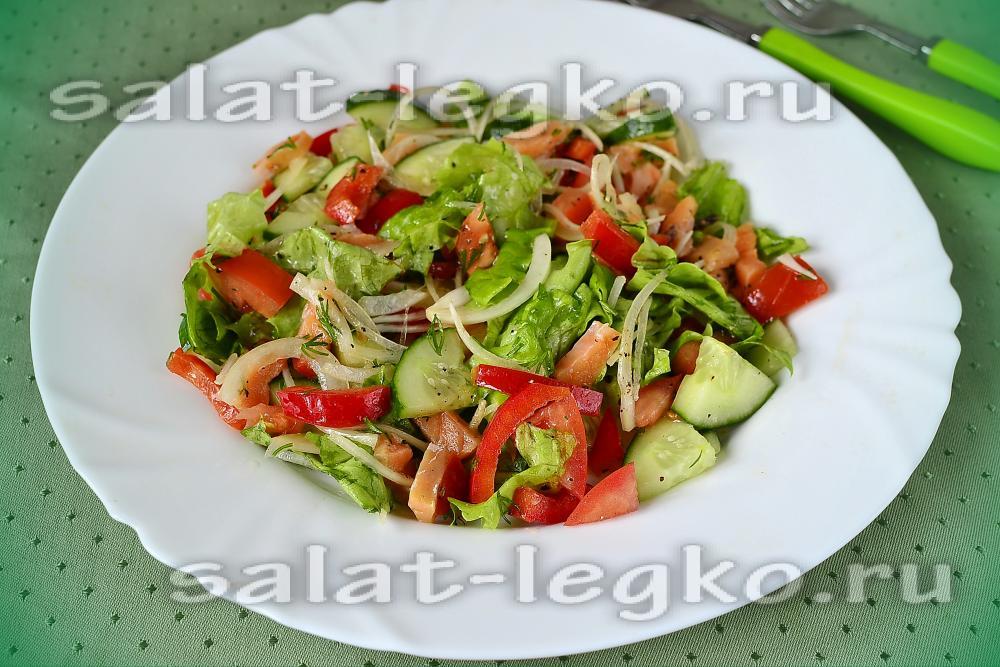 рецепт салата с красной икрой без майонеза