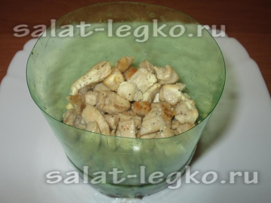 слой куриного филе
