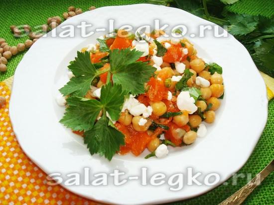 рецепт салата с нутом