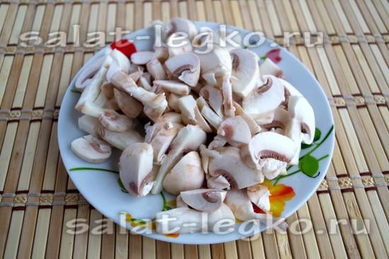 грибы нарежьте