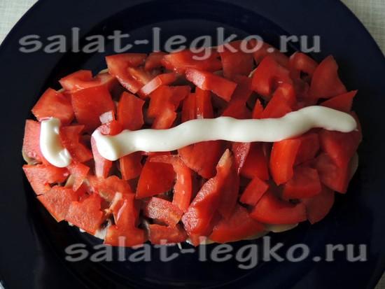 выложите помидоры