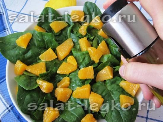 Сбрызгиваем оливковым маслом