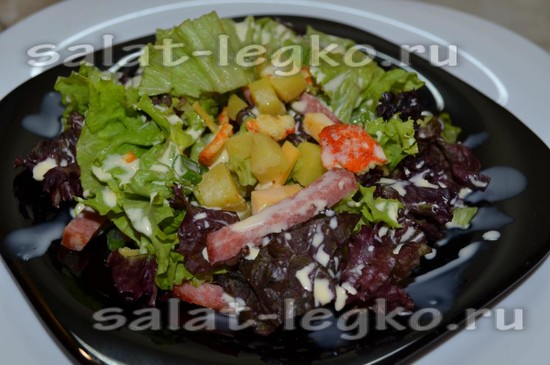 заправляем салат сливками