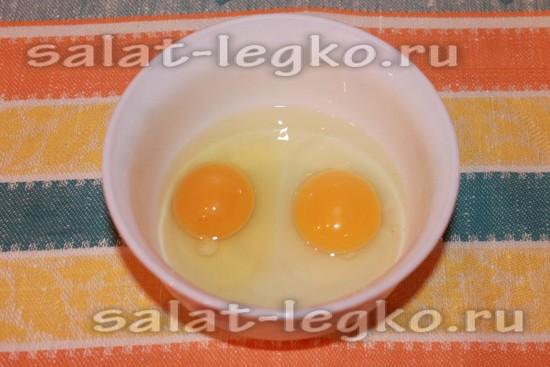 Вбиваем 2 яйца