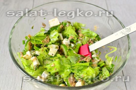 Размешиваем салат