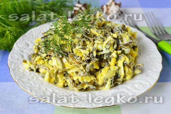 рецепт салата с морской капустой