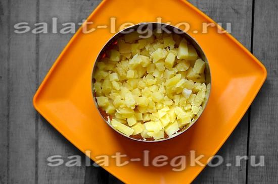 Первый слой картофель