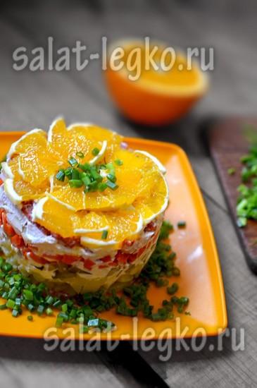 Салат с апельсином.