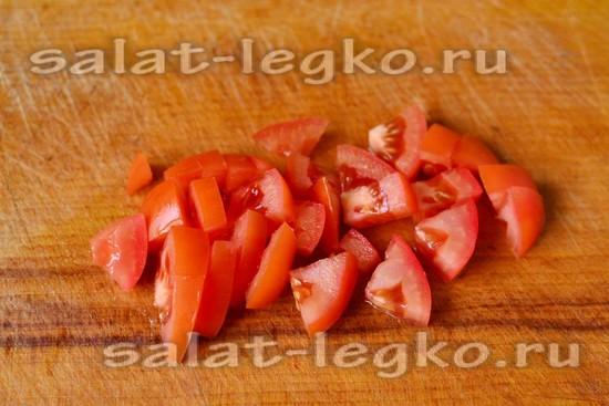 томат нарезать