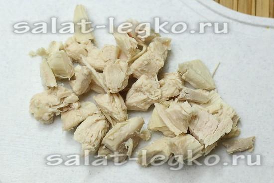 Куриное филе нарезать