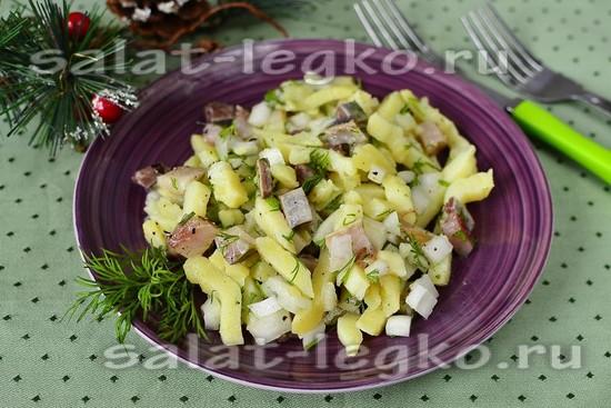 Рецепт салата закусочный из селедки