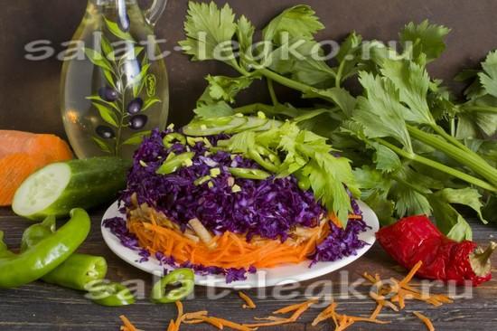 Рецепт салата «Щётка» для похудения