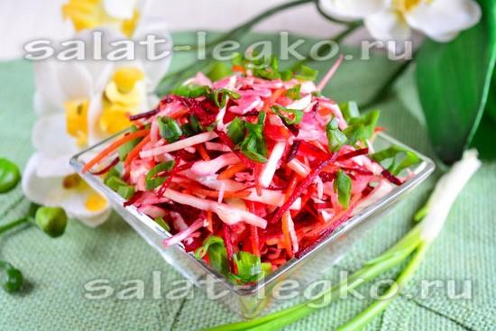 Рецепт салат из капусты со свеклой