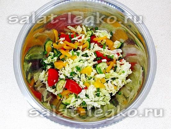 овощи хорошо перемешать