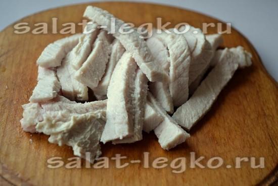 нарезать свинину для салата