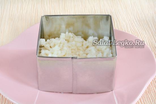 Первый слой - рис