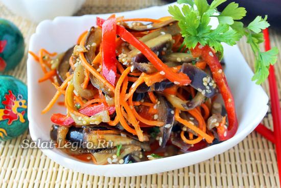 рецепт баклажанов по-корейски быстрого приготовления