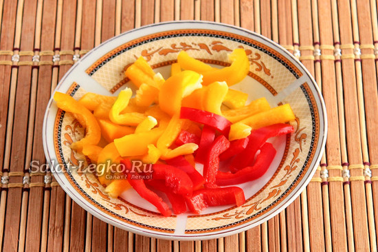 нарезать болгарский перец