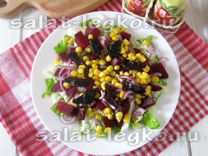 Салат с китайской капустой постный рецепт — 2