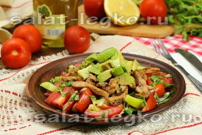 салат со свининой рецепт с фото очень вкусный