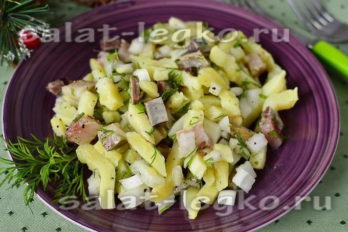 Салат закусочный из селедки