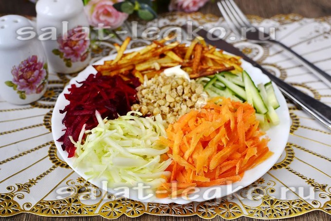 Салат со свининой – 7 потрясающих рецептов с фото | 454x680
