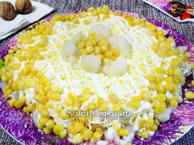 Праздничный салат из капуста