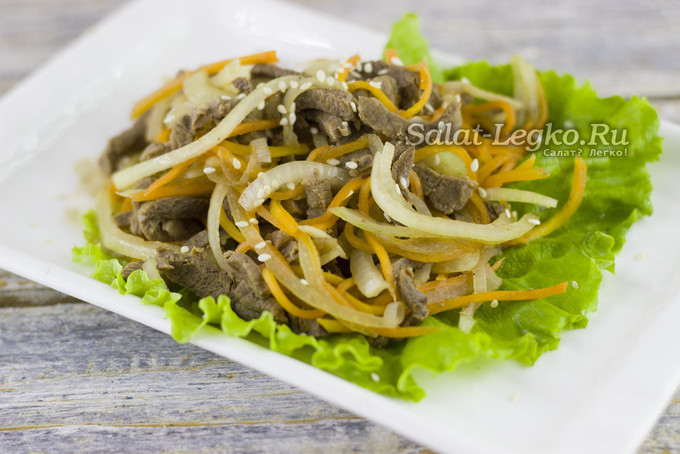 Салат Хе из мяса с морковью