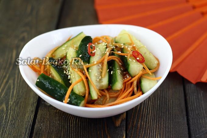 Огурцы по-корейски с кунжутом