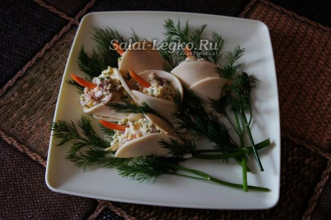 закуска каллы с креветками рецепт