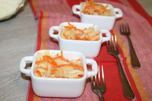 Витаминный салат из капусты и моркови: рецепт с фото как в столовой